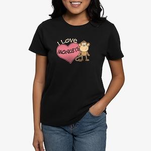 I Love Monkeys Women's Dark T-Shirt