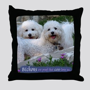 Bichons are... Throw Pillow