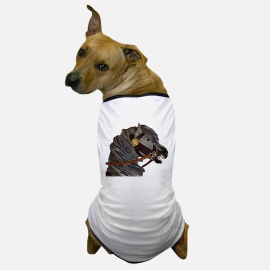 gray carousel horse Dog T-Shirt