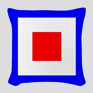 Nautical Flag Code Whiskey Woven Throw Pillow