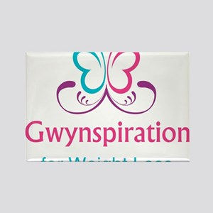 Gwynspiration for Weight Loss logo Rectangle Magne