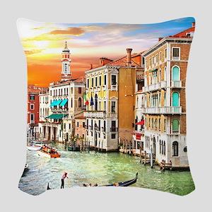 Venice Photo Woven Throw Pillow