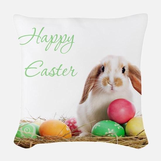 Easter Bunny Woven Throw Pillow