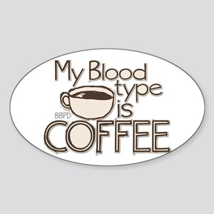 Blood Type Coffee Sticker