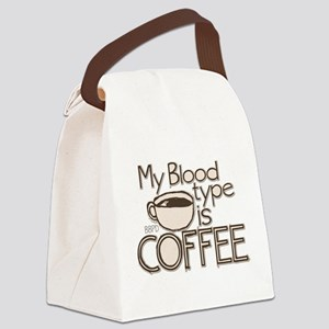 Blood Type Coffee Canvas Lunch Bag