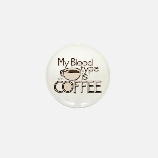 Blood Type Coffee Mini Button