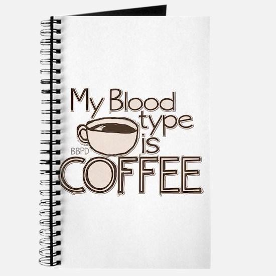 Blood Type Coffee Journal