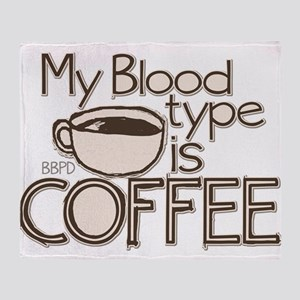 Blood Type Coffee Throw Blanket
