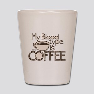 Blood Type Coffee Shot Glass