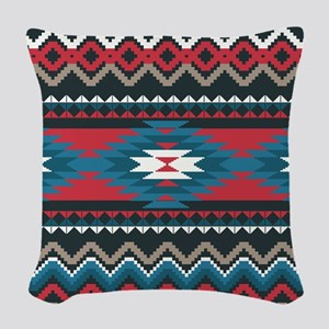 Native Pattern Woven Throw Pillow