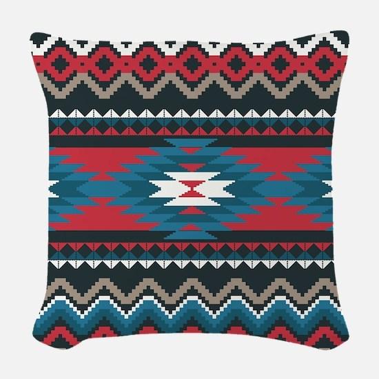Native Pattern Woven Throw Pillow