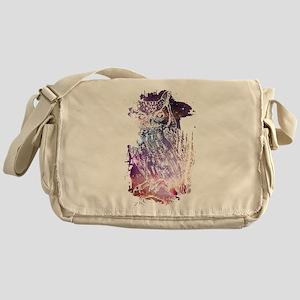 Cosmic Owl Messenger Bag