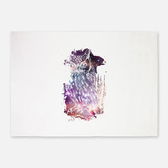 Cosmic Owl 5'x7'Area Rug