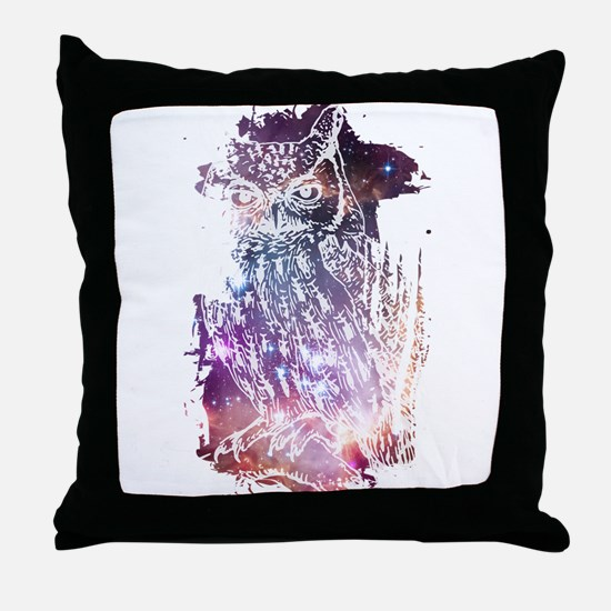 Cosmic Owl Throw Pillow