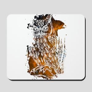 Cosmic Owl Mousepad