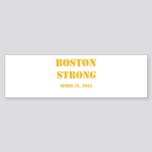 Boston Strong Gold Bumper Sticker