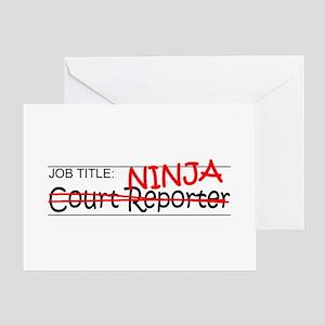 Job Ninja Court Reporter Greeting Card