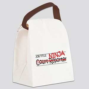 Job Ninja Court Reporter Canvas Lunch Bag