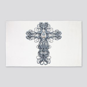 Wire Cross with Miraculous Medal 3'x5' Area Rug