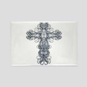 Wire Cross with Miraculous Medal Rectangle Magnet