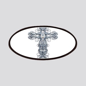 Wire Cross with Miraculous Medal Patches