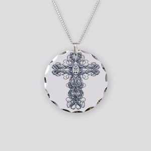 Wire Cross with Miraculous Medal Necklace Circle C