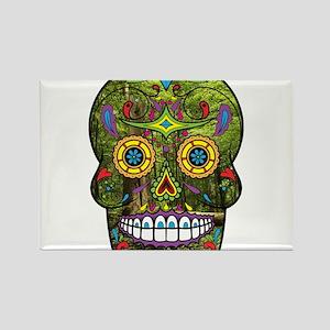 Sugar Skull Rectangle Magnet