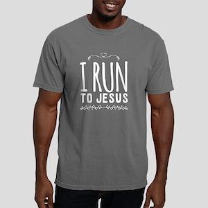 I run to jesus Mens Comfort Colors Shirt