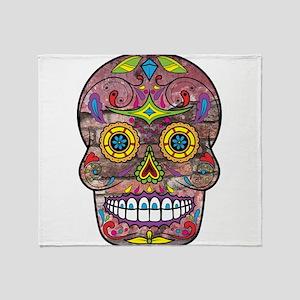 Day of the Dead - Sugar Skull Throw Blanket