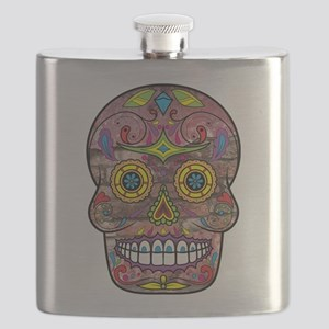 Day of the Dead - Sugar Skull Flask