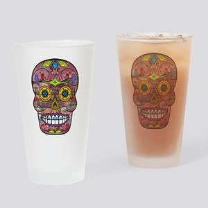 Day of the Dead - Sugar Skull Drinking Glass