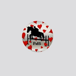 Fun Horse Jumper and Hearts Mini Button (100 pack)