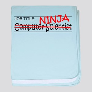 Job Ninja Computer Scientist baby blanket