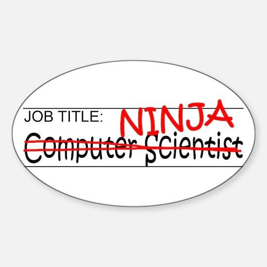 Job Ninja Computer Scientist Sticker (Oval)