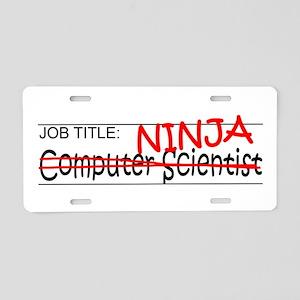 Job Ninja Computer Scientist Aluminum License Plat