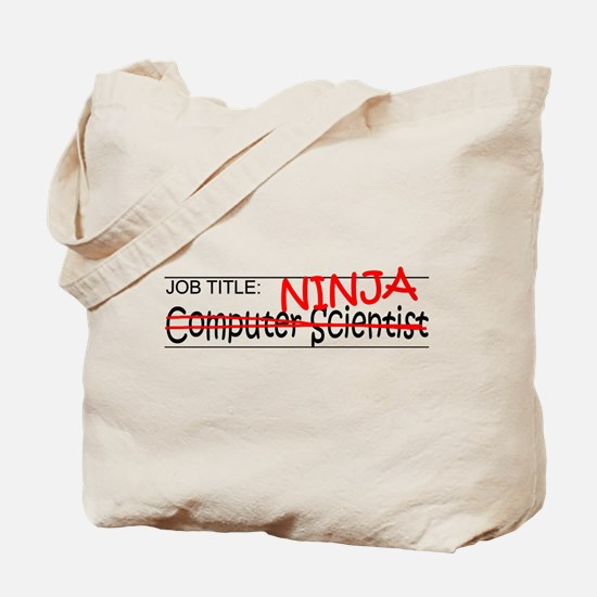 Job Ninja Computer Scientist Tote Bag
