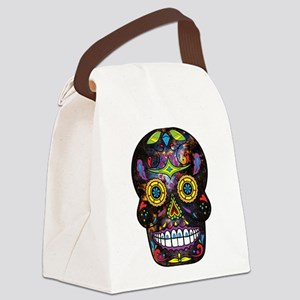 Day of the Dead - Sugar Skull Canvas Lunch Bag