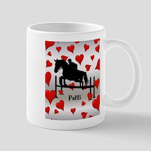 Fun Horse Jumper and Hearts Mug