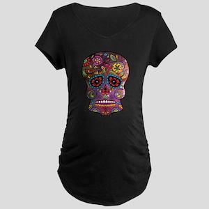 Festival Skull Maternity T-Shirt