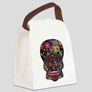 Festival Skull Canvas Lunch Bag