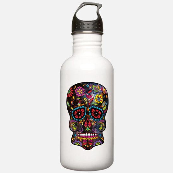 Festival Skull Water Bottle