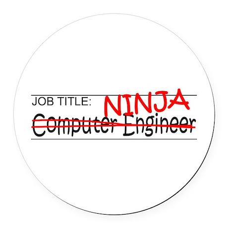 Job Ninja Computer Engineer Round Car Magnet