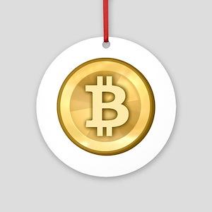 BitCoin Gold Ornament (Round)