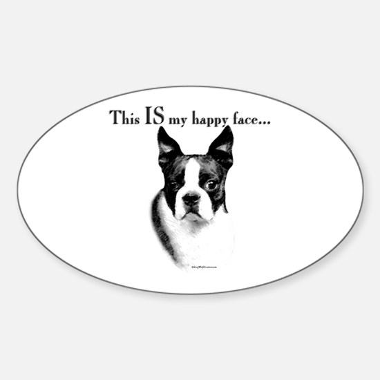 Boston Happy Face Oval Decal