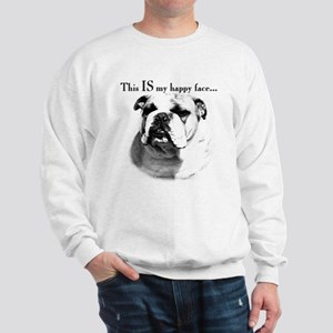 Bulldog Happy Face Sweatshirt