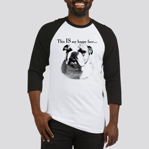 Bulldog Happy Face Baseball Jersey