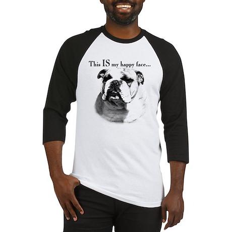 Bulldog Happy Face Baseball Jersey
