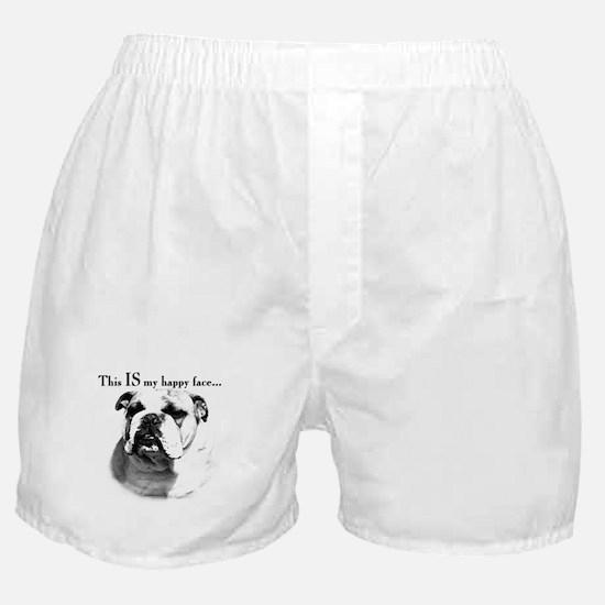 Bulldog Happy Face Boxer Shorts