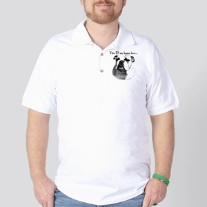 Bulldog Happy Face Golf Shirt
