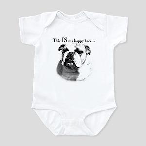 Bulldog Happy Face Infant Bodysuit